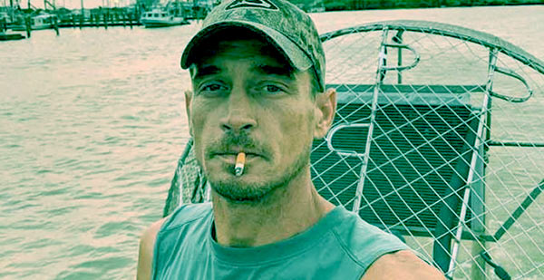 Image of Caption: Tommy Chauvin from the TV show, Swamp People