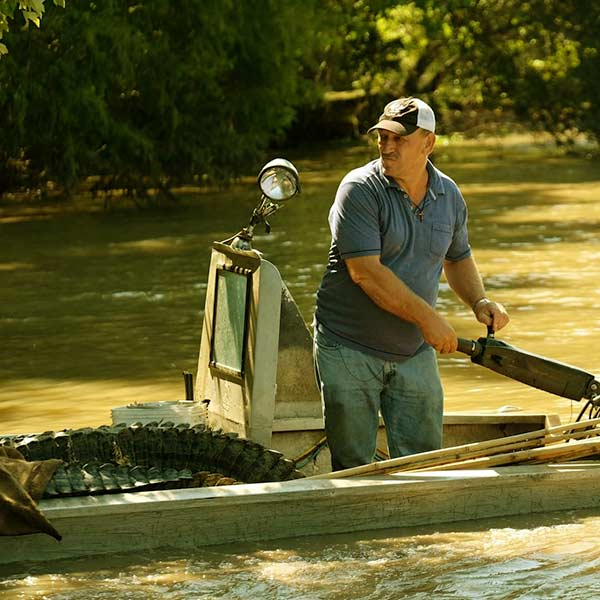 Image of Caption: Troy Landry from Swamp People show