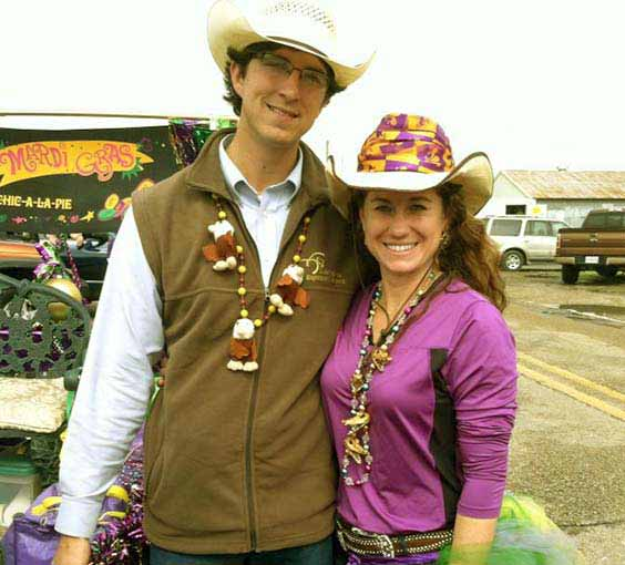 Photo of Kristi Broussard and her husband, Justin Roy.